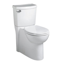 "American Standard - American Standard 2988.101.020 Concealed Trapway Cadet 3 Flowise Toilet, White - American Standard 2988.101.020 Cadet Concealed Trapway Cadet 3 RH RF Flowise Toilet,  White. This round-front toilet features a 12"" Rough-in, an EverClean surface that inhibits the growth of bacteria, mold, and mildew, a 16-1/2"" Right Height rim, a siphon action jetted bowl with smooth sided concealed trapway, a fully-glazed 2-1/8"" trapway, a PowerWash rim that scrubs the bowl with each flush, an oversized 3"" flush valve, a chrome-plated left-side trip lever, and 2 color-matched bolt hole covers."