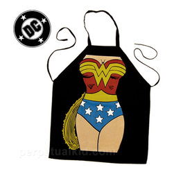 DC Comics Wonder Woman Apron - How has no one purchased this for me yet? I mean, really, do they not know what I accomplish in a day between work and blogs and my house and my kid?