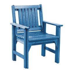 C.R. Plastic Products - C.R. Plastics Dining Arm Chair In Blue - C.R. Plastics Dining Arm Chair In Blue