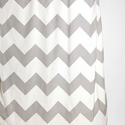 Zigzag Shower Curtain, Gray - Bring a touch of gray into the bathroom with a jazzy shower curtain like this zigzag one from Urban Outfitters.