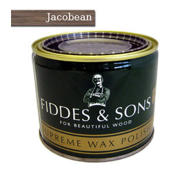Fiddes & Sons - Fiddes & Sons Supreme Wax Polish 500ml, Jacobean - Fiddes Supreme Wax Polish by Fiddes & Sons has been specially crafted to enhance the beauty of your wooden furnishing or that sprawling wooden floor. Its application is also very easy and dries up in a matter of minutes. The finish and shine that this wax imparts to wooden articles is just of a supreme quality.