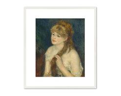 Young Woman Braiding Her Hair, 1876 - Auguste Renoir, Young Woman Braiding Her Hair, 1876. National Gallery of Art.