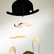 Home Decor Mr. Moustache Special Edition Mobile in Gold