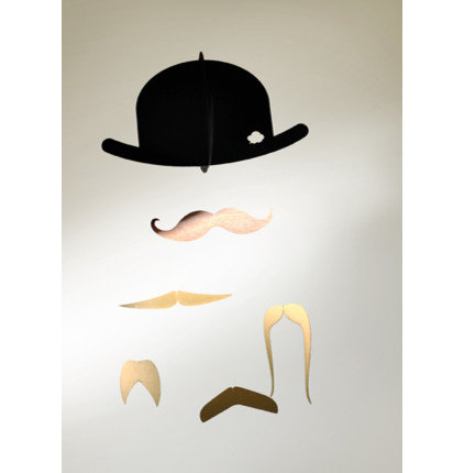 accessories and decor Mr. Moustache Special Edition Mobile in Gold