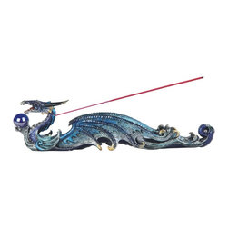 GSC - 12.5 Inch Multi-Colored Dragon Holding Orb Incense Burner - This gorgeous 12.5 Inch Multi-Colored Dragon Holding Orb Incense Burner has the finest details and highest quality you will find anywhere! 12.5 Inch Multi-Colored Dragon Holding Orb Incense Burner is truly remarkable.
