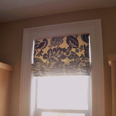 Contemporary Roman Blinds by Custom Covers for Home and Office