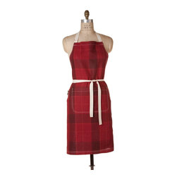 Birdkage - Campbell Classic Bib Apron - Clean up like a paper towel lumberjack with this plaid bib apron. Roomy enough for men or women, it includes pockets reinforced with blue jean rivets, natural cotton ties and straps, and contrasting topstitching. And it even comes packaged in a reusable cotton drawstring bag. From cooking to crafts, you'll stay tidy and organized in style.