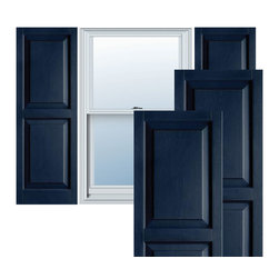 """Alpha Systems LLC - 14 1/2"""" x 54"""" Builders Choice Vinyl Raised Panel Shutters,w/Screws, Royal Blue - Our Builders Choice Vinyl Shutters are the perfect choice for inexpensively updating your home. With a solid wood look, wide color selection, and incomparable performance, exterior vinyl shutters are an ideal way to add beauty and charm to any home exterior. Everything is included with your vinyl shutter shipment. Color matching shutter screws and a beautiful new set of vinyl shutters."""