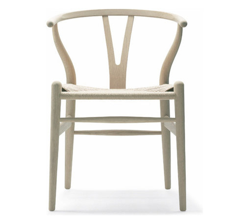 Carl Hansen & Son - Wegner Wishbone Chair, Wood Oak, Soap/Natural Seat by Carl Hansen - Your wish for truly dynamic decor is about to come true. The wishbone-inspired work of Danish modern master Hans J. Wegner brings a sleek yet sensuously curvy vibe to your dining room. Made of oak with a paper-cord woven seat, it's a natural choice for style and comfort.