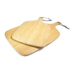 Bamboo Cutting Board Set - Bamboo cutting board with handle.