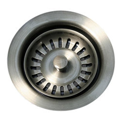 Whitehaus Collection - Pewter Whitehaus WH200 3 1/2'' Waste Disposer Trim for Fireclay Kitchen Sinks - Purchase a Whitehaus Collection basket strainer for your new sink and enjoy both quality and convenience with this ergonomically designed kitchen sink strainer.