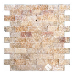Soleil Onyx Mosaic | 1x2 | Split Face - Call to order: 1-877-558-8484