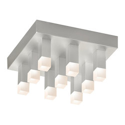 Sonneman - Sonneman 2121.16 Connetix Bright Satin Aluminum LED Flush Mount - Sonneman 2121.16 Connetix Bright Satin Aluminum LED Flush Mount