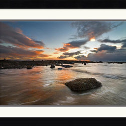Amanti Art - Sailcoats Sunset Framed Print by Robert Strachan - Has a sunset ever looked more epically beautiful than in this fine art print? With subtle hues, this 'Sailcoats Sunset' is sure to add touch of relaxation to any decor.