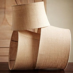 """Burlap Tapered Drum Lamp Shade 