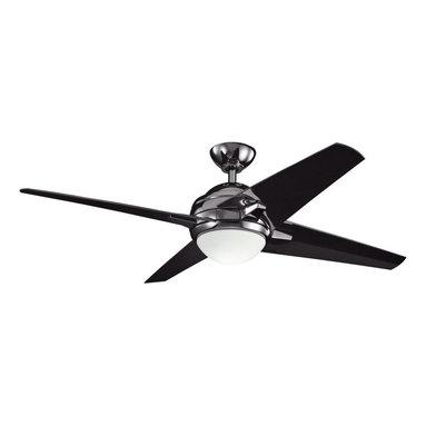 Kichler Lighting - Kichler Lighting 300133MCH 52-Inch Rivetta Ceiling Fan - Fan Blade Pitch: 14