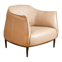 Great Deal Furniture - Adelina Leather Accent Chair, Tan - The Adelina Accent Chair is a perfect piece to bring together any living space in your home. The bonded leather gathers at the seams adds great attention to detail for an innovative design, that creates a unique look and feel for your style. Place one in your living room, bedroom or office.