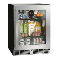 """Perlick - HA24RB3R 24""""  4.8 cu. ft. Capacity ADA Compliant  Built-In Counter Depth  Stainl - The 24 ADA-Compliant Refrigerator by Perlick is designed to stand 32 high for maximum capacity while still adhering to ADA regulations Featuring stainless steel interior and Perlicks RAPIDcool Refrigeration system this unit is suitable for a variety ..."""