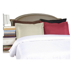 Bed Linens - Microfiber Stripe Duvet Cover Sets, Full/Queen, Taupe - Explore the amazing feel of our Microfiber Duvets. Made with 100%Microfiber and designed to resist wrinkles and pilling, they will stay like newthrough many machine wash cycles. Strong and durable, yet luxuriously soft,these duvets offer all the advantages of standard cotton duvets at less cost toyou!