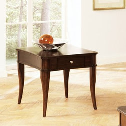Steve Silver Marseille Rectangular Poplar Wood End Table - About Steve SilverSince its founding in Forney, Texas, in 1987, the Steve Silver Company has had a simple focus: to provide the best quality product at an irresistible price, back it up with uncompromising service, and continue to improve every day. As one of the premier suppliers of dining sets and occasional furniture in the country, Steve Silver is proud to make you, the customer, its top priority, utilizing state-of-the-art equipment, proven operating procedures, and over 500,000 square feet of facilities. You'll feel equally proud displaying furniture from the Steve Silver Company in your home.