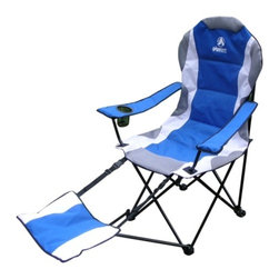 Gigatent - Camping Chair with Footrest - The chair with all feathers, Adjustable footrest, patted seats, Cup holder, light weight, water proof fabrics, Storage bag with carrion handle.