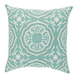 vintagemaya - MAZZINI Pillow Cover - Via Mazzini in Turin - an old world street..vintage charm. An apartment complex �geometric precision. These are, but, some of the inspiring factors behind the creation of our iLa Feuri pillows. The Art Nouveau style decorative pillows have 450 thread count cotton and are perfect for enhancing the look of your room. Throw these toss pillows for couch casually on your couch or sofa, and transform the look of the room in seconds. Because of the invisible hidden zippers, this handmade pillow has a seamless and continuous look. You can�t miss the intricate white embroidery on the pillow, created in lace like material. This is a look that reminds you of lazy afternoons, walking along the cobbled streets, hands bulging with shopping bags. This is a look that reminds of a tall cool drink shared with friends in darling little sidewalk cafes. Yes! All of this conveyed solely by our iLa Feuri pillows