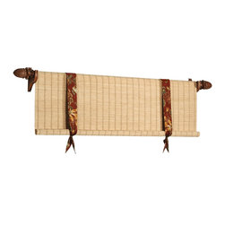 Woven Wood Valances - Woven wood valances available in over 160 patterns/textures/colors at The Interiors Workroom, Inc.  Coordinating shades and panels are available.