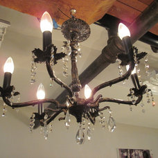 Chandeliers Vintage Brass and Crystal Chandelier
