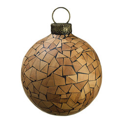Silk Plants Direct - Silk Plants Direct Wood Mosaic Ball Ornament (Pack of 1) - Pack of 1. Silk Plants Direct specializes in manufacturing, design and supply of the most life-like, premium quality artificial plants, trees, flowers, arrangements, topiaries and containers for home, office and commercial use. Our Wood Mosaic Ball Ornament includes the following:
