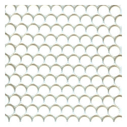 Mission Stone Tile - GetAround Penny Round Mosaic Tile - White - Matte Finish, Sample - Sold by the Sample size