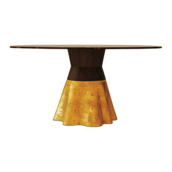 "Tavola 9 - ""La Grande Dame"" of the Costantini Collection.  Shown with a cast bronze base, Guayubira ""waist"", and glass top."