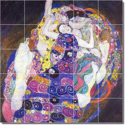Picture-Tiles, LLC - The Virgin Tile Mural By Gustave Klimt - * MURAL SIZE: 40x40 inch tile mural using (25) 8x8 ceramic tiles-satin finish.