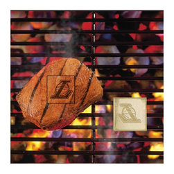 Fanmats - Fanmats NBA 5 x 8 in. Grill Brand Multicolor - 10154 - Shop for Rugs and Runners from Hayneedle.com! Turn grilling into a contact sport with the Fanmats NBA 5 x 8 in. Fan Brands which allows you to brand your favorite team's logo on your meat bread or veggies. Place the brand on your grill allow it to heat up to 500 Fahrenheit apply some olive oil or non-stick spray then place your food over the brand. Logos will be transferred to your food in a few minutes. Cook until desired doneness is achieved. Constructed of high conductivity metal alloy. Also works indoors with a frying pan.About Fan MatsFan Mats creates a wide range of mats and rugs for the home including entrance mats bathroom mats bedside mats area mats as well as car truck tailgate and garage mats. Each Fan Mats product is produced in a 138 000 sq. ft. state-of-the art manufacturing facility in Suwanee Georgia. The company uses the highest quality high luster yarn with 18-ounce face weight. Their mats are chromojet printed allowing for unique full penetration of the color down the entire tuft of yarn. A full-time ISO professional and a team of 13 full-time Quality Inspectors ensure that every mat produced meets the company's high standards. The result is a superior quality highly attractive mat that any real fan has to own.
