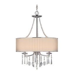 Golden Lighting - Golden Lighting 8981-3P BRI Pendant - Chic transitional style with a graceful feminine sense