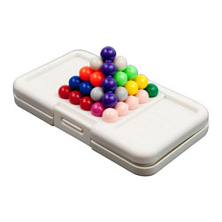 Trademark Global - Lonpos 505 Brain Intelligence Game - Includes 505 puzzle challenges games. 480 rectangle 2D and 25 Pyramid 3-D games. Twelve multi-colored and multi-geometric. Connected beads lying on divot-like rectangular playing tray. High-contrasting. Lightweight. Improves concentration, analytical Skills and memory. Self-contained game. Sturdy and latching plastic case. 5.5 in. W x 1 in. D x 0.75 in. H (1 lbs.)Are you looking for a pocket-sized cognitive workout that is travel-friendly? The brand-new Lonpos 505, with over 500 puzzles, guarantees that regardless of age, your brain will be challenged. Lonpos 505 's clearly-written instruction booklet presents puzzle problems with illustrations that are a bit small but still quite clear. Your child begins play by placing one or more of his twelve pieces onto the board in specified positions, then uses his remaining pieces to fill in the board. I love how the game slowly but effectively develops children's visual-spatial skills through a series of very logical building steps. Purchasing more than one Lonpos 505 allows children to race each other to the solutions. The Lonpos predecessor, Lonpos 303, won many awards, such as the Oppenheim Toy Portfolio Gold Award 2006, Dr. Toy Best Vacation Children's Product, and Creative Child Magazine's Top Toy of the Year Award in the brainteaser games category. Now you get all of that with 202 more puzzles! Marketed for children six years old and older, I think that with occasional parental participation, Lonpos 505 could be used with home-taught children as young as three or four. Because of small pieces, it could be a choking hazard for children under three years of age.