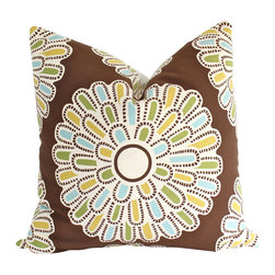 The Pillow Studio - Thomas Paul Square Pillow Cover with Giant Daisy - Thomas Paul 20inch Square Pillow Cover with Giant Daisy-- How can you not smile when you see this gigantic flower? Its hard to resist.