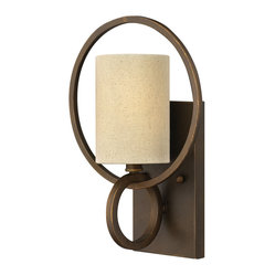 Frederick Ramond - Fredrick Ramond Pandora 1-Light Sconce - The stunning  chic design of Pandora creates a distinctive statement with intersecting rings that capture cylindrical shades for a soft yet geometric style. A rich Brushed Cinnamon finish adds a luxurious feel to this timeless yet striking collection.