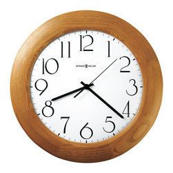 Howard Miller - Howard Miller Santa Fe Quartz Wall Clock - Howard Miller - Wall Clocks - 625355 - This contemporary wall clock has a bright and attractive look and is equally well suited to home or office. Distinguished by its Champagne Oak-finished wood bezel and crisp white dial, the Santa Fe has an easy going character. Battery-operated quartz movement ensures consistent timekeeping and rounds out the appeal of Santa Fe Quartz Wall Clock.