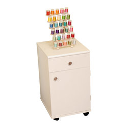 Arrow Sewing Cabinet - Arrow Sewing Cabinets 801 Suzi, Four Drawer Sewing Storage Cabinent, White - Your Suzi Storage cabinet has a durable design with composite construction and a vinyl laminate in colors to match every cabinet. Create a matching set in your sewing room, by adding Suzi to any Arrow cabinet Suzi is made of the same material Arrow cabinets are made of, so she will match any existing Arrow cabinet you have. Youll find plenty of storage with four drawers for all your sewing notions Drawer stops prevent Suzis drawers from pulling out too far, but each drawer will glide effortlessly on slides allowing you to reach hard to find items in the back.Need Suzi close at hand or need her out of the way.Suzi will roll in and out of place on her four casters allowing you to place her where ever she is needed the most.