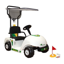 Dexton - Dexton Lil Driver Golf Cart Multicolor - D-902 - Shop for Tricycles and Riding Toys from Hayneedle.com! Create excitement about golf with the Dexton Lil Driver Golf Cart. Your child will love driving around the neighborhood in the realistic miniature golf cart. For added realism this unique cart even includes a set of clubs! Moving at a slow speed you don't have to worry about them speeding away or causing damage. It move sin forward and reverse and has a padded seat to keep him comfy. This golf cart also features a real working horn and a fold-over sun canopy. A 6 Volt battery is included and recharges for repeated use. Recommended for child ages 4 to 6 years. About DextonDexton has been manufacturing distinguished high-quality children's musical instruments and ride-ons for over 10 years. Located in the Orange County area of Southern California its factories produce 50 of the most popular musical instruments to professional standards that music teachers prefer. Dexton also produces a wide assortment of battery-powered and pedal car ride-ons as well as children's furniture. Dexton uses the highest-quality wood leather and chrome-plated steel when manufacturing its safe kid-friendly products.