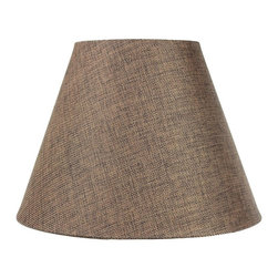6x12x9 Hard Back Empire Lamp Shade - Light Oatmeal Linen - Home Concept Signature Shades feature the finest premium hardback parchment.