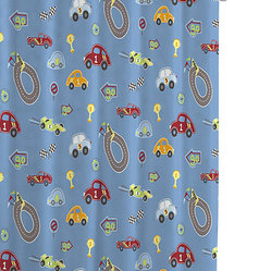 Bambi Race Track Shower Curtains
