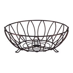 Spectrum Diversified Designs - Leaf Fruit Bowl - Bronze - Keep fresh fruit and vegetables handy and ready to eat with our Leaf Fruit Bowl. Also great for serving bread, rolls and muffins.  Made of sturdy steel with a bronze finish. A hospitality favorite for restaurants and hotels.