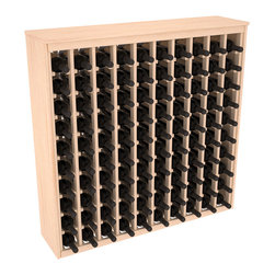 Wine Racks America - 100 Bottle Deluxe Wine Rack in Ponderosa Pine, (Unstained) - This wooden wine rack functions well as either a freestanding wine rack furniture or as part of a complete wine cellar design. Solid top and side enclosures promote the cool and dark storage area necessary for aging your wine properly. Your satisfaction and our racks are guaranteed.