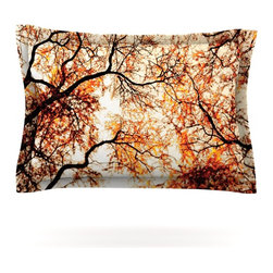 "Kess InHouse - Bree Madden ""Fire Trees"" Pillow Sham (Cotton, 30"" x 20"") - Pairing your already chic duvet cover with playful pillow shams is the perfect way to tie your bedroom together. There are endless possibilities to feed your artistic palette with these imaginative pillow shams. It will looks so elegant you won't want ruin the masterpiece you have created when you go to bed. Not only are these pillow shams nice to look at they are also made from a high quality cotton blend. They are so soft that they will elevate your sleep up to level that is beyond Cloud 9. We always print our goods with the highest quality printing process in order to maintain the integrity of the art that you are adeptly displaying. This means that you won't have to worry about your art fading or your sham loosing it's freshness."