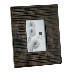 Lazy Susan - Lazy Susan 344010 Striped Horn Frame - Frames make the picture and this striped horn frame will make your picture speak a thousand words. Hand crafted and coated with resin, its rich texture will add a distinct look to your decor.