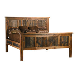 Mountain Woods Furniture - Wyoming Collection Reclaimed Barnwood Bed, King Size - This king size  Wyoming  Collection  reclaimed  barnwood  bed  features  a  unique  coloration  &  a  natural  patina.  Most  of  the  reclaimed  boards  have  endured  many  years  in  the  rugged  plains  &  mountains  of  Wyoming.  The  furniture  has  widely  varying  knot  patterns,  grain  designs,  and  beautiful  colors-ranging  from  rich  grays  to  hints  of  orange  &  deep  rust.  The  Wyoming  Collection  is  an  innovative  blend  of  reclaimed,  weathered  wood  fused  with  regionally-harvested  solid  woods.  The  side  rails  easily  connect  the  headboard  and  foot  board,  and  cross-slats  are  provided  to  support  your  boxspring  and  mattress.  No  metal  bed  frame  is  needed.  Purchase  a  headboard  only  if  preferred.                  Reclaimed  Rustic  Wood  (Barnwood)              Side  rails  easily  connect  headboard  and  footboard              Cross-slats  are  provided  for  mattress  support              No  metal  frame  is  needed              Comes  with  self-supporting  slats  and  plugs;  no  tools  required  for  assembly              Ships  free  in  Contiguous  48  states;  Curbside  Shipping,  or  select  from  available  upgrades.              Allow  4-6  weeks  for  delivery                      Wyoming  Collection  Reclaimed  Wood  Bed  Dimensions  and  Prices                                    Size                      Model  No.                      Dimensions                      Price                                      King                      WY-K-Bed                      87W  x  92L  x  62H                      2016.00                                      California  King                      WY-CALK-Bed                      81W  x  96L  x  62H                      2016.00                                      Queen                      WY-Q-Bed                      71W  x  92L  x  62H                      1797.00                                      Full                      WY-F-Bed                      64W  x  86L  x  62H                      1662.00                                      Twin                      WY-Tw-Bed                      49W  x  86L  x  62H                      1507.00