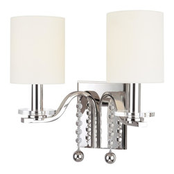 Hudson Valley Lighting - Hudson Valley Lighting 8162-PN Bolton 2 Light Wall Sconce, Polished Nickel - This 2 light Wall Sconce from the Bolton collection by Hudson Valley Lighting will enhance your home with a perfect mix of form and function. The features include a Polished Nickel finish applied by experts. This item qualifies for free shipping!