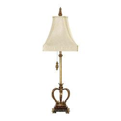 Dimond Lighting - Dimond Lighting 93-308 Huntington Crown Gold Leaf Table Lamp - Dimond Lighting 93-308 Huntington Crown Gold Leaf Table Lamp