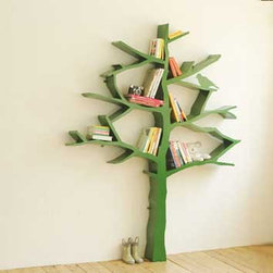 "Tree Bookshelf - The only word for this is ""tree-mendous."" It's sculptural art right in your kids' bedroom — and it's functional too. Shawn Soh did a beautiful job designing this."